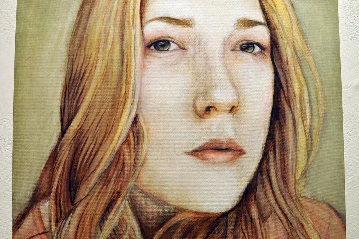 Female student self portrait