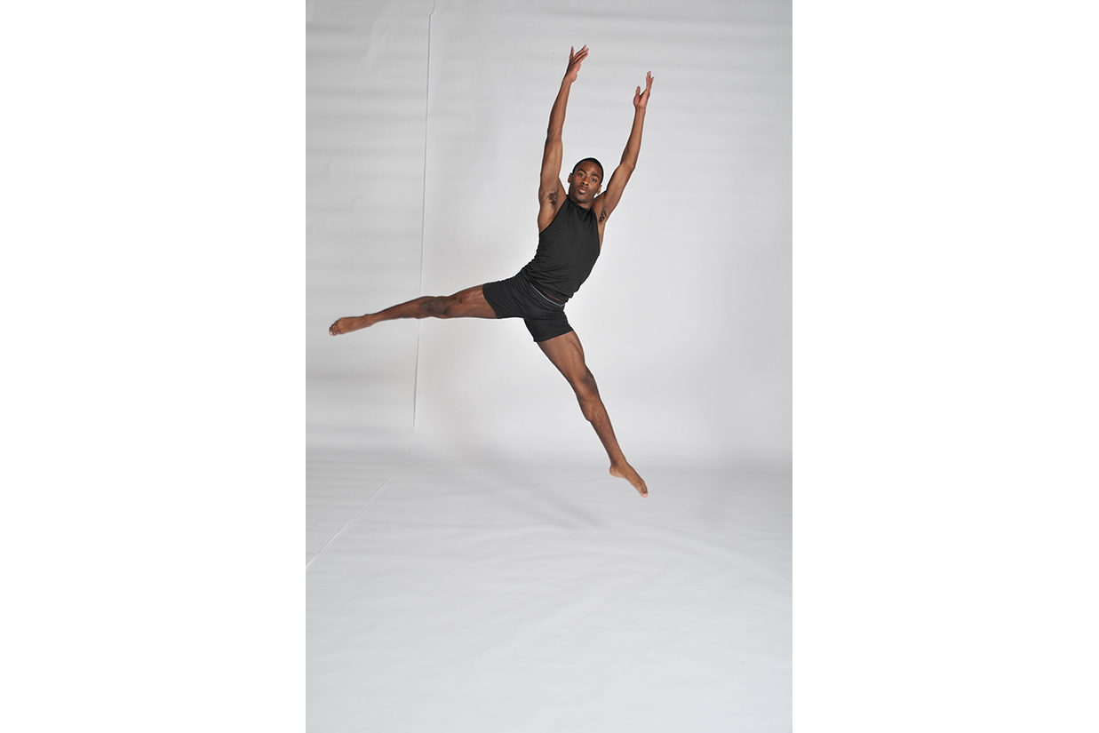 Male dancer leaping