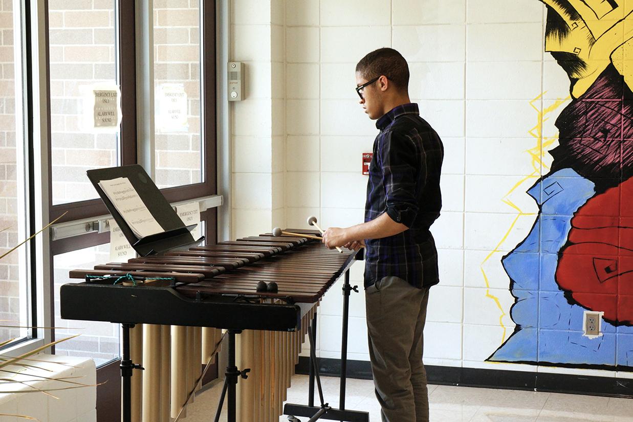 Marimba player