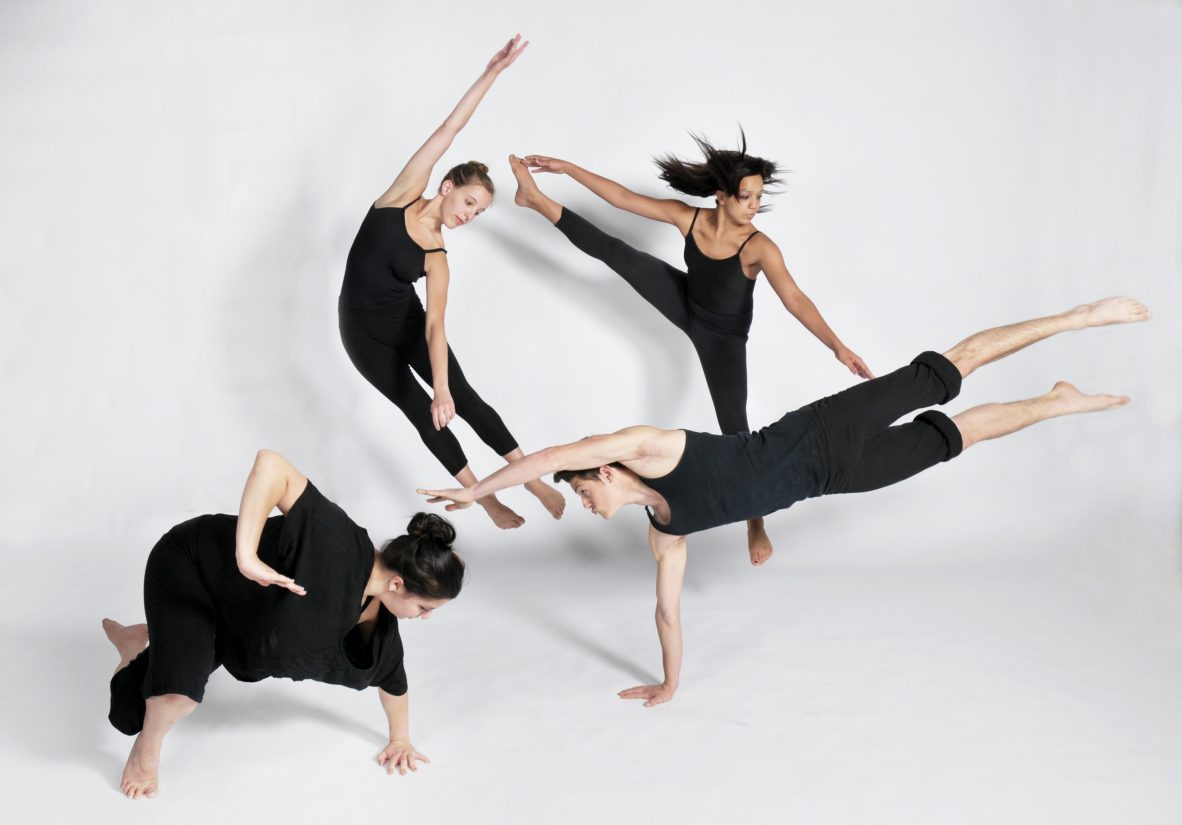 Four dancers in various positions