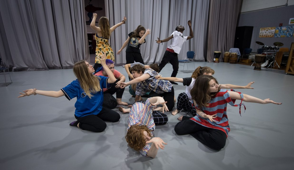 Dancing Group of People